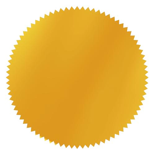 notary foil embosser stamp wafer yellow