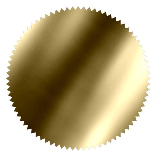 notary foil embosser stamp wafer shiny gold metallic